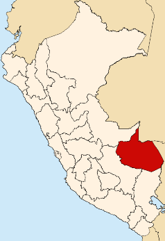 Region Madre de Dios, Karte, Peru, Madre de Dios | Bild (Ausschnitt): ©  Tuomas Carrasco - en.wikipedia.org