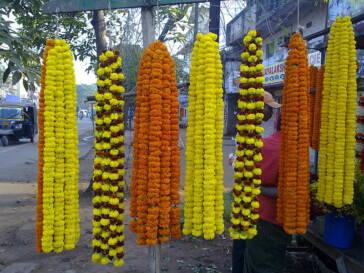 Thailands einheimische Blumenverkäufer