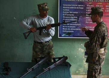 Kolumbianischer Soldat