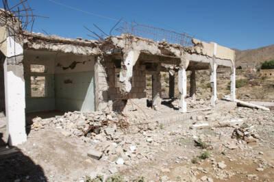 Zerbombte Schule im Jemen