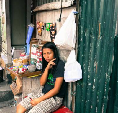 Mädchen in Manila